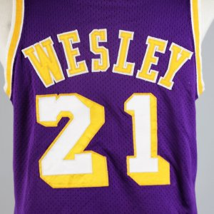 1975 Lakers Walt Wesley Game-Worn Purple Mesh Jersey