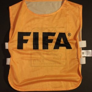 A Team USA Game-Used 2015 FIFA Women's World Cup Tournament Bib.  World Cup Final v. Japan.