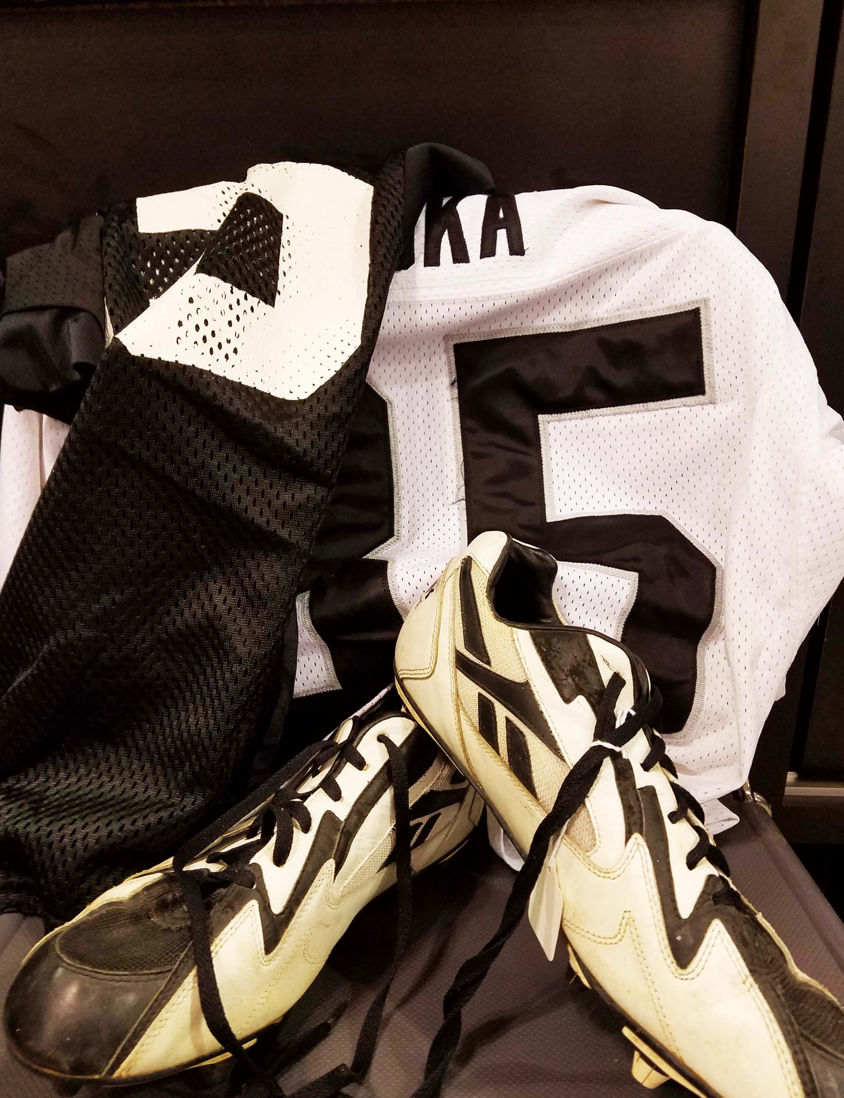 Oakland Raiders - Joe Aska Game-Worn Lot Jersey (2) & Game-Used, Signed Cleats