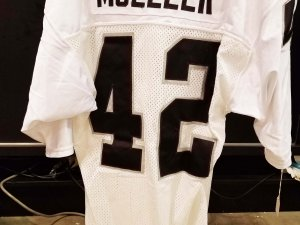 Los Angeles Raiders Vance Mueller Game-Worn Jersey