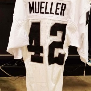 Los Angeles Raiders - Vance Mueller Game-Worn Away Jersey