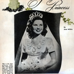 "SHIRLEY TEMPLE - ""Fairy Princess"" Story, Ribbon and Bow from Shirley's Wedding to John Agar"