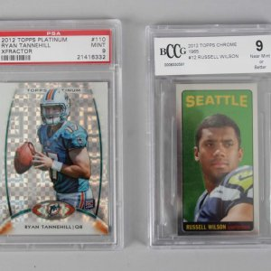 QB's - Russell Wilson & Ryan Tannehill Graded Rookie Cards - PSA & BCCG