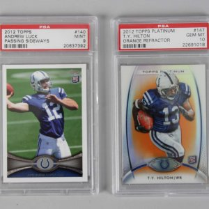 2012 Colts - Andrew Luck & T.Y. Hilton Graded Rookie Cards - PSA 9 & 10