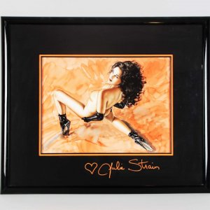 Olivia - Julie Strain Signed Original Painting Artwork Display - COA