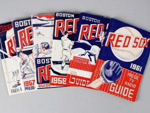 1956-1961 Boston Red Sox Press, TV, Radio Guide Lot (6)