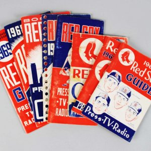 1962-69 Boston Red Sox Press, TV, Radio Guide Lot (8)