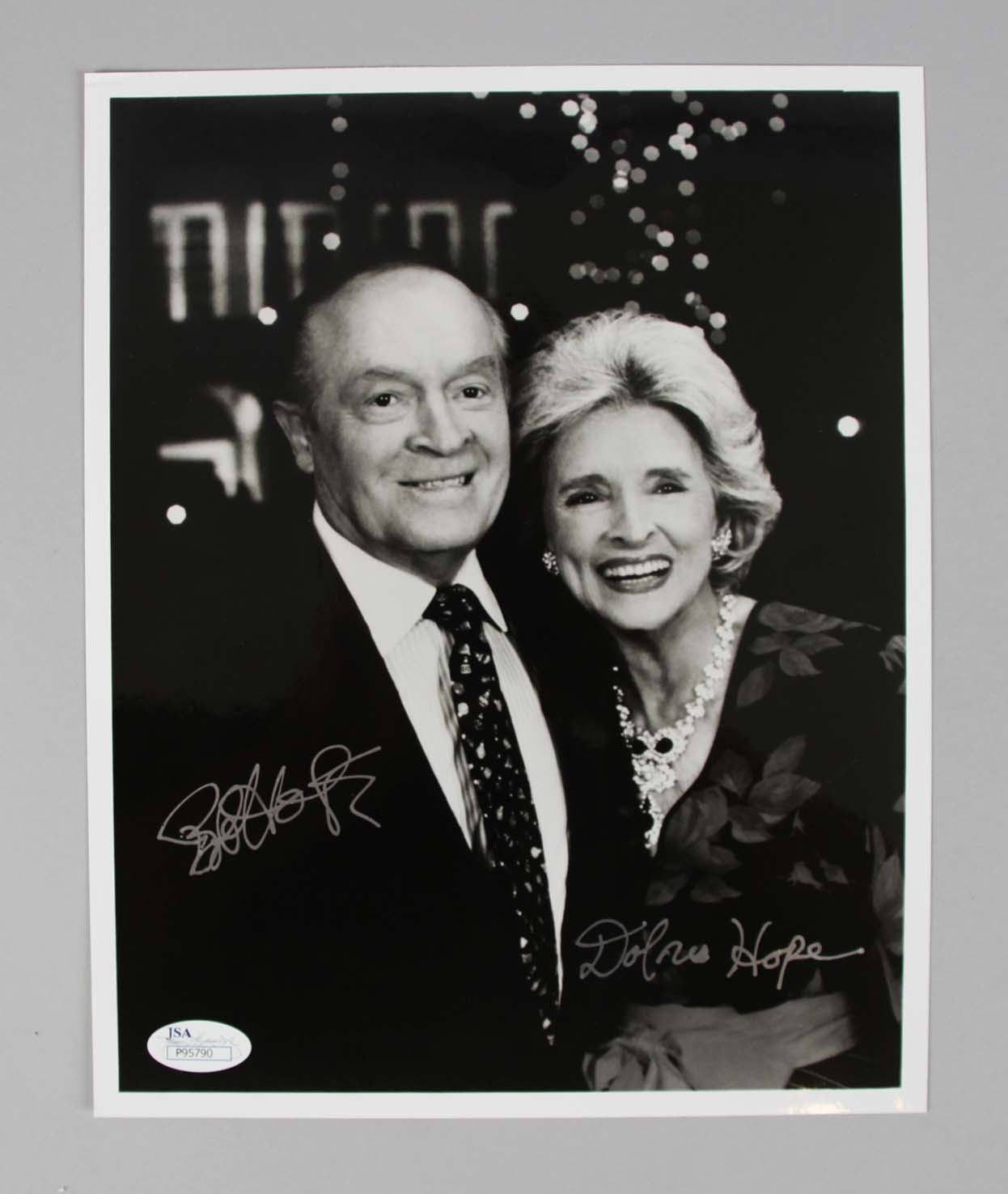 Bob & Dolores Hope Signed 8x10 B/W Photo - COA JSA. Bob & Dolores Hope  Signed 8x10 B/W Photo - COA JSA