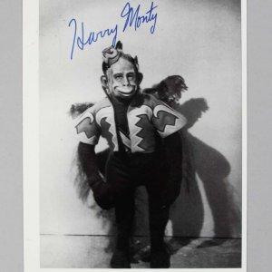 Wizard of Oz - Harry Monty Signed 5x8 BW Photo - COA JSA