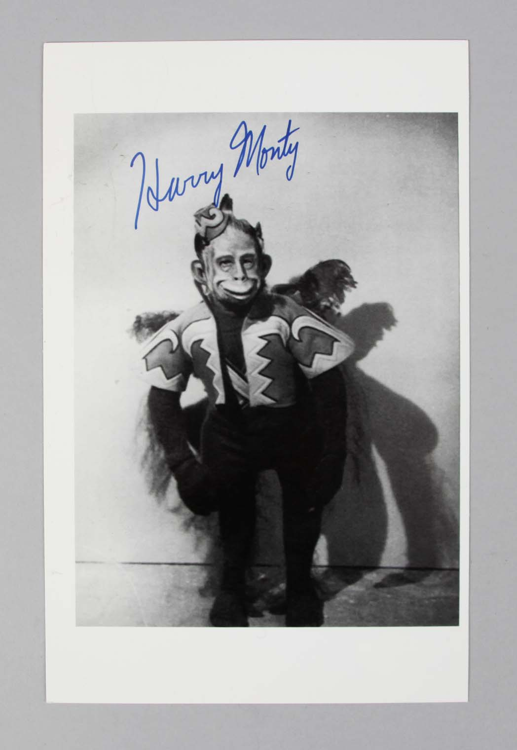 Wizard of Oz - Harry Monty Signed 5x8 BW Photo - COA JSA