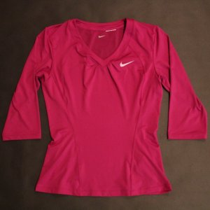 A Serena Williams Game-Issued Custom Nike Tennis Top.  2010 WTA Season.