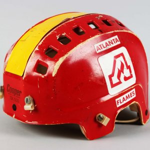 Atlanta Flames - Dan Bouchard Game-Worn Hockey Helmet