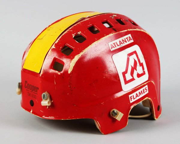 Atlanta Flames - Dan Bouchard Game-Worn Hockey Helmet