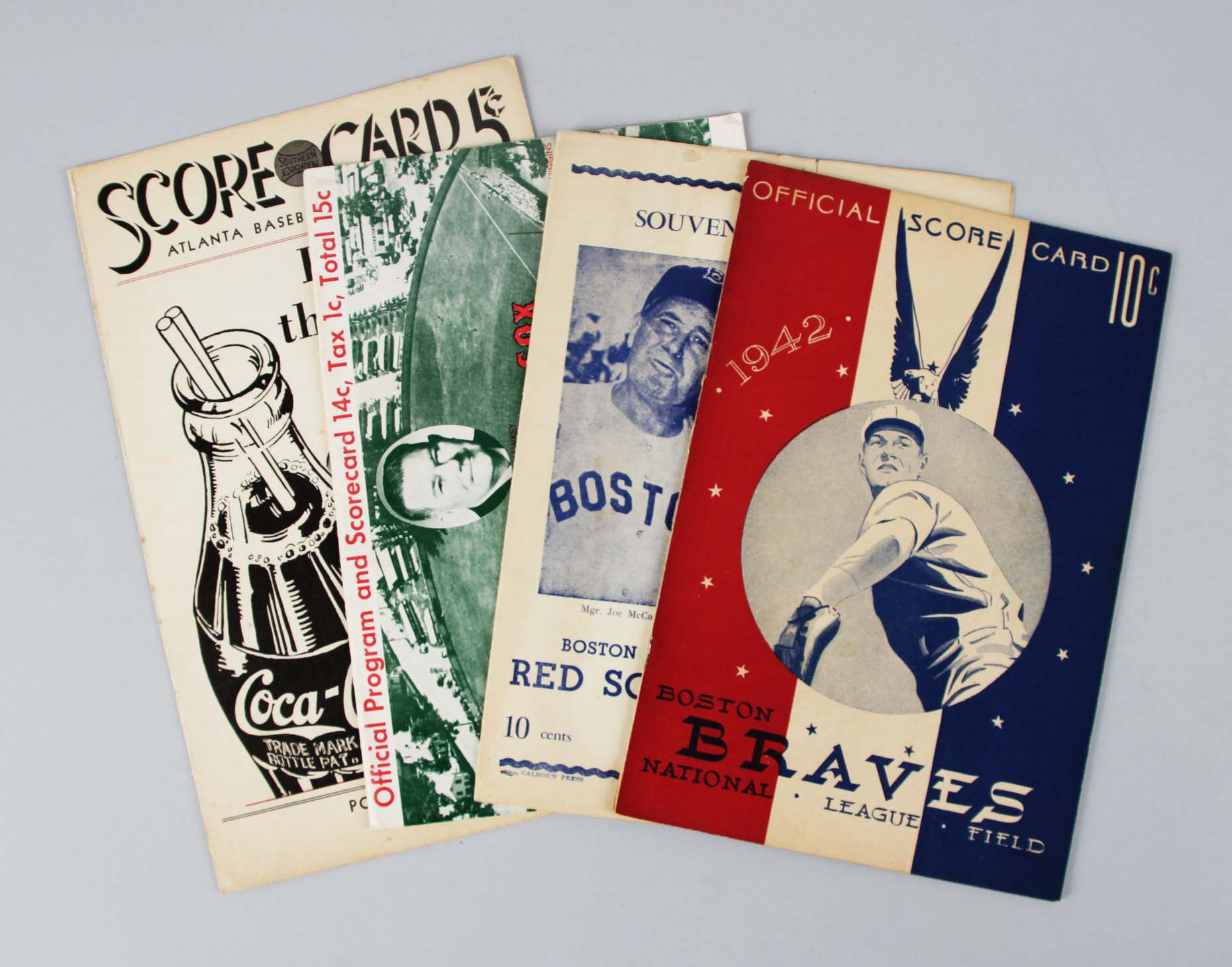 1939, 1942, 1949 & 1958 Baseball Score Card & Program Lot (4)