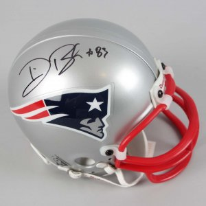 New England Patriots - Deion Branch Signed & Inscribed Mini Helmet - COA