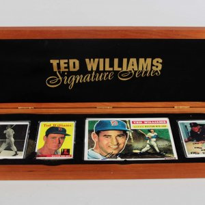 Ted Williams Signature Series Porcelain Baseball Card Collection