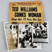 1958 Ted Williams Conks Woman Original Press Photos