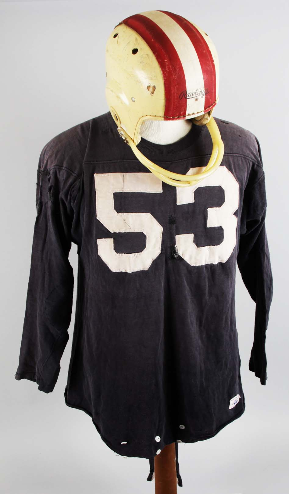 Late 1950's Game-Worn Helmet and Jersey69580_01