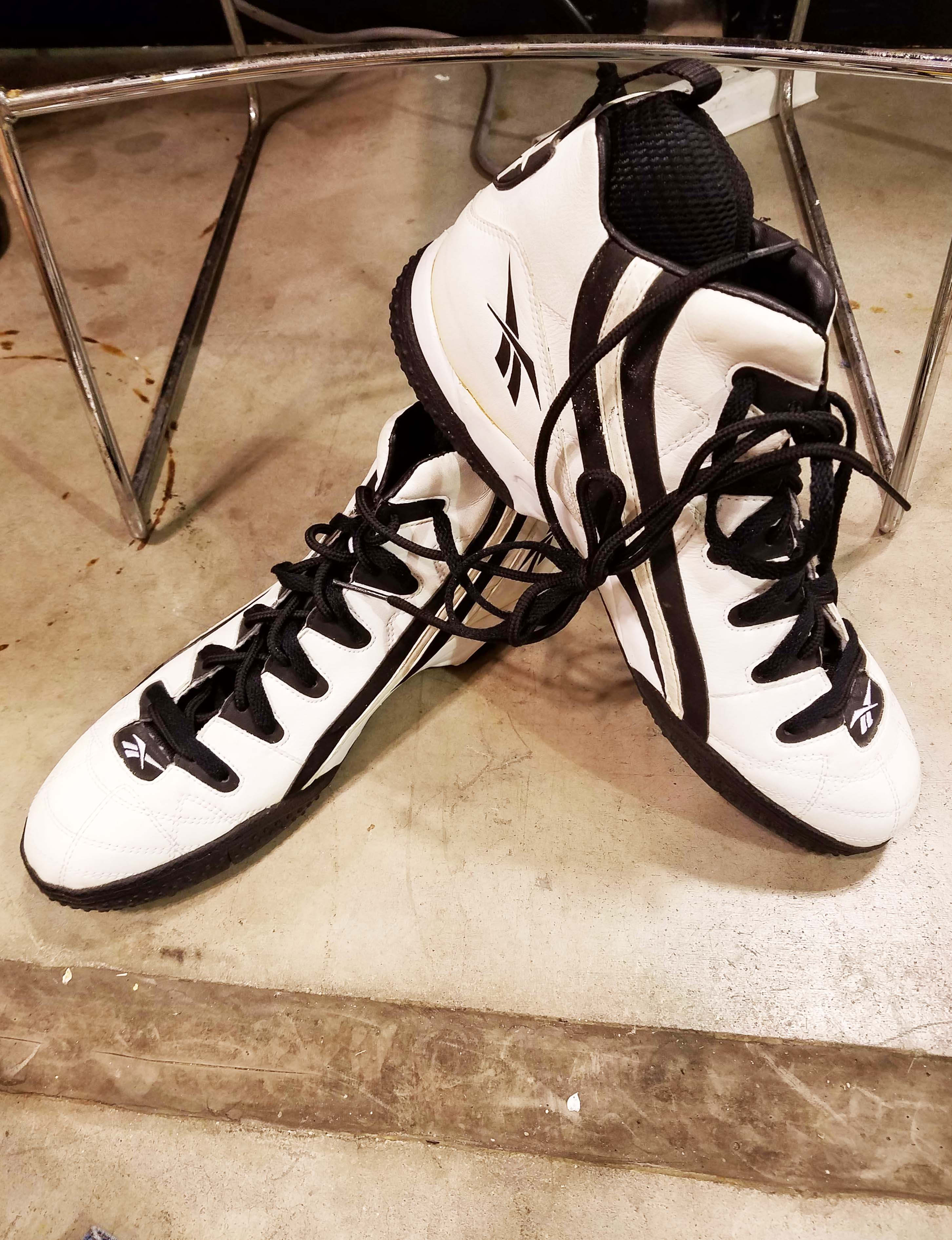 Oakland Raiders - Unknown #66 Game-Worn, Signed Shoes
