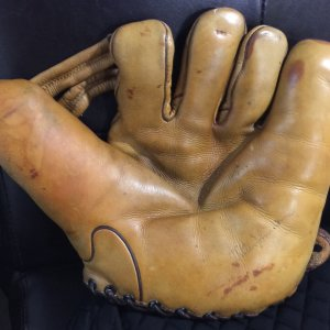 1920's Walter Johnson Rare Store Model Victor Baseball Glove