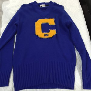 1940's University of California Berkeley Golden Bears Baseball Player Vintage Sweater