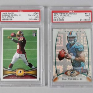 2012 Topps Robert Griffin III & Ryan Tannehill Graded Rookie Cards - PSA