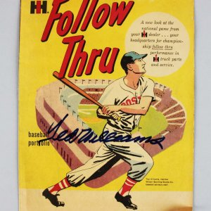 "Boston Red Sox - Ted Williams Signed ""Follow Thru"" Magazine - JSA"