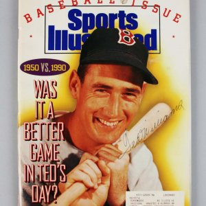 Boston Red Sox - Ted Williams Signed 1990 SI Magazine - JSA