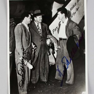 Boston Red Sox - Ted Williams, Joe Cronin & Dom DiMaggio Signed 8x10 Photo - JSA