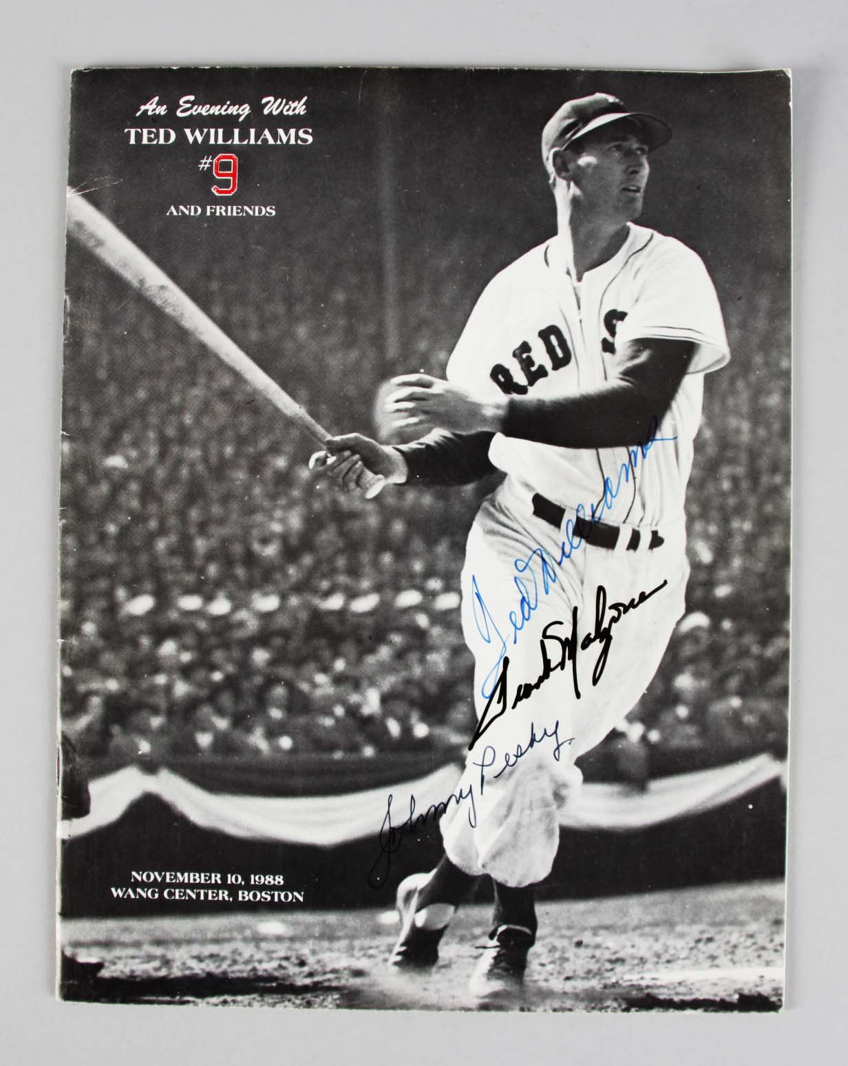 Boston Red Sox - Ted Williams, Frank Malzone & Johnny Pesky & Others Signed Magazine - JSA