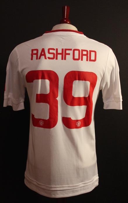the latest cf322 bdac6 A Marcus Rashford Game-Used #39 Manchester United FC Away Shirt. 2015/16 FA  Cup.