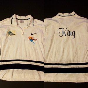 A Billie Jean King Game-Used Custom Nike Tennis Top.  World Team Tennis.