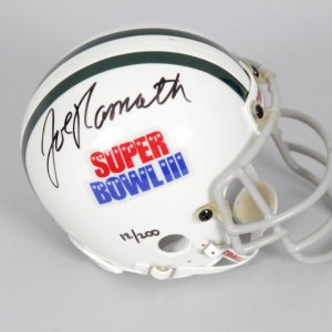 New York Jets - Joe Namath Signed Super Bowl III Mini-Helmet - COA