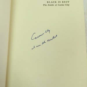 "Cassius Clay signed and inscribed ""I am the Greatest"" Black is Best Book"