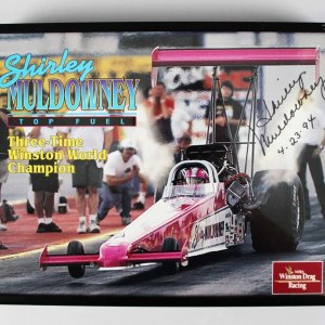 "Drag Racing - Shirley Muldowney ""First Lady of Drag Racing"" Signed 9x11 Photo- COA"