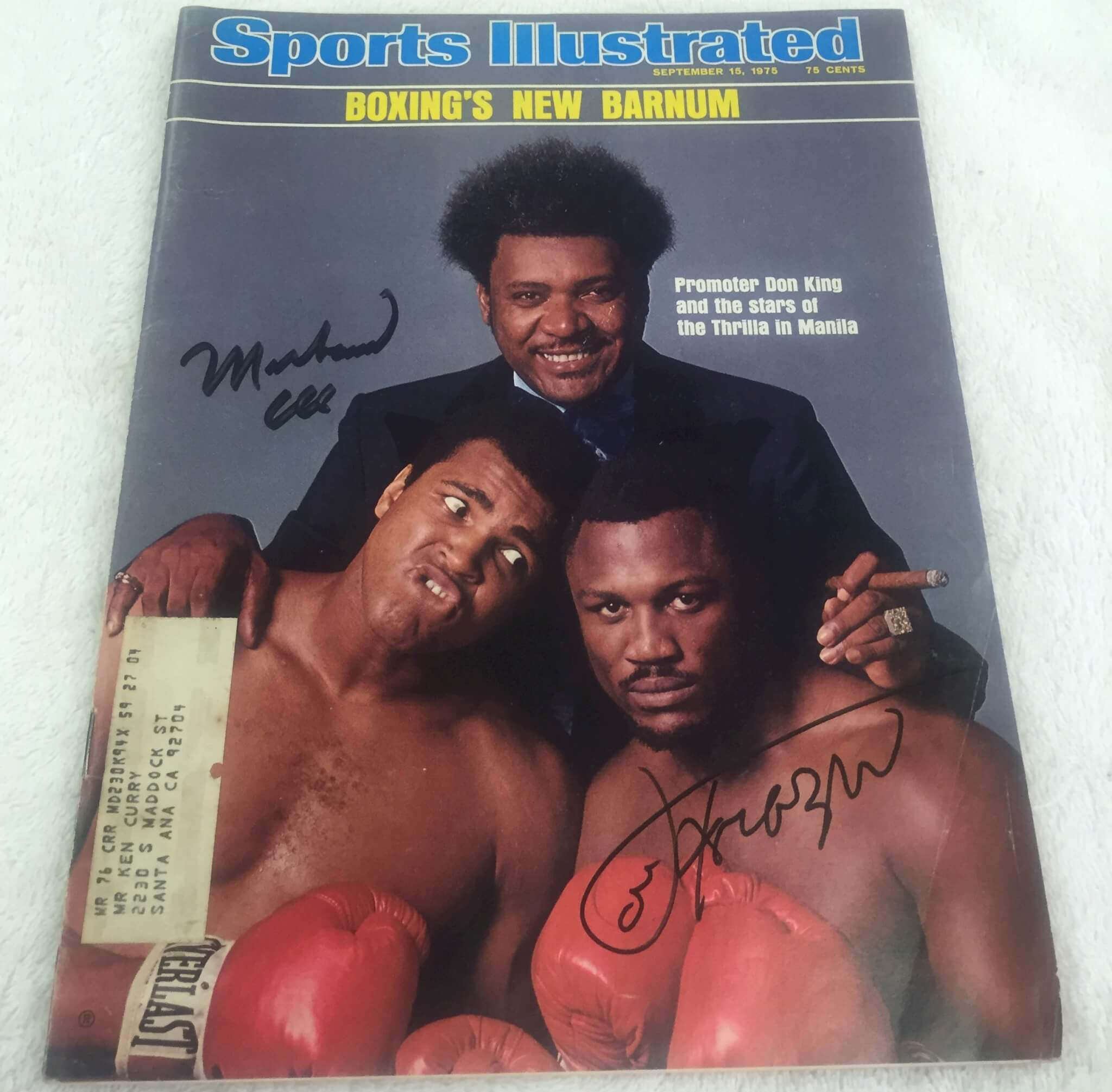 Muhammad Ali and Joe Frazier Signed 1976 Sports Illustrated
