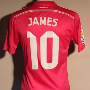 A James Rodriguez Game-Used #10 Real Madrid CF Away Shirt.  2014/15 La Liga (Spanish Domestic).