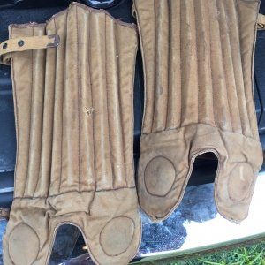 1915 circ. Draper & Maynard Vintage Antique Football Shin Guards