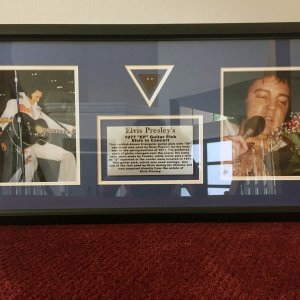 "Elvis Presley's Personal ""EP"" Guitar Pick Display Provenance -Elvis Estate"