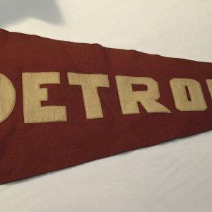 Detroit 1910-1915 Large Size Pennant