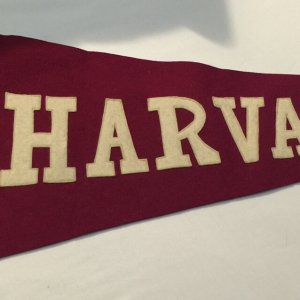 Wright & Ditson 1910-1915 Circ. Harvard University Pennant