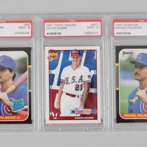 (1) 1991 & (2) 1987 Topps & Donruss Graded Baseball Rookie Cards - PSA