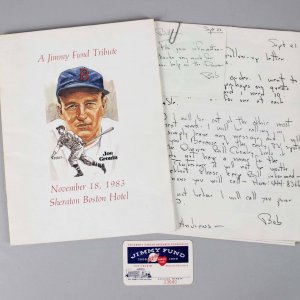 1983 Signed Jimmy Fund Tribute To Joe Cronin 13 HOF Ted Williams, Mantle DiMaggio Program - JSA