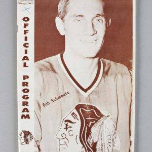 1968 Blackhawks Multi-Signed Program (Boston Bruins Players) 12 Sigs. Bobby Orr etc. - JSA