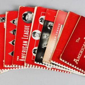 1949-59 The American League Red Books Lot (10) Feat. Team Roster, Stats, Rookies etc.
