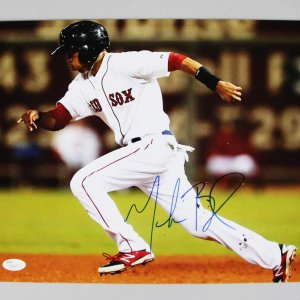 Boston Red Sox Mookie Betts Signed 11x14 Photo - COA JSA