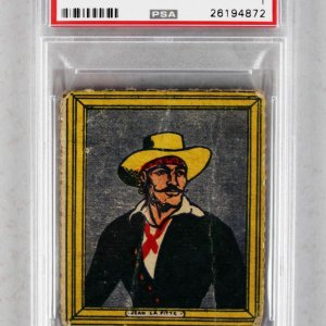 1950 R722-5 Novel Pirate Adventures Jean LaFitte #1 Trading Card PSA Graded
