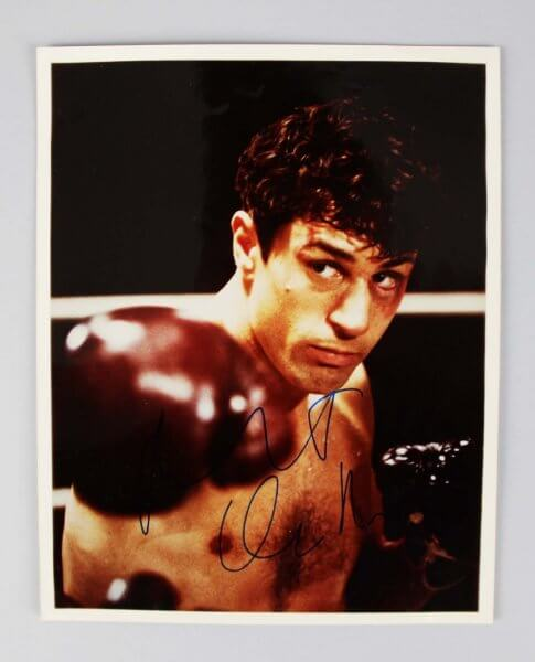 Raging Bull - Robert De Niro Signed Full Signature 8x10 Photo - JSA Full LOA