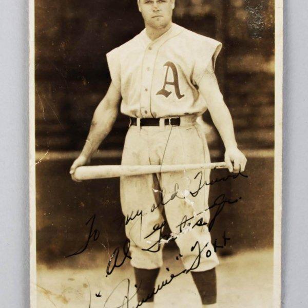 Philadelphia Athletics - Jimmie Foxx Signed George Burke Photo Postcard - JSA Full LOA