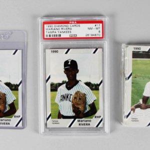 1990 Tampa Bay Yankees Minor League Team Set - Mariano Rivera & Bonus Rivera PSA Graded NM-MT 8